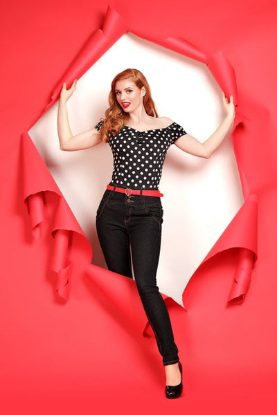 Collectif clothing rebel kate black jeans