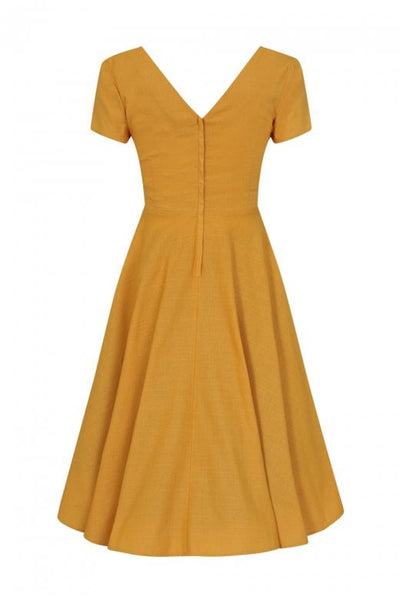 Maria dress in mustard size 10