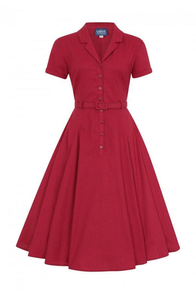 Caterina raspberry swing dress
