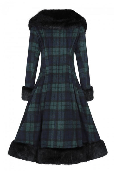blackwatch tartan collectif pearl coat back