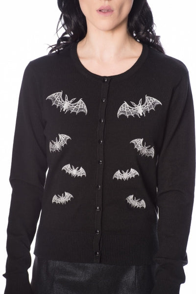 Lace bats Banned cardigan front