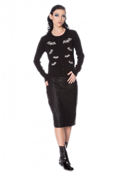 lace bats banned cardigan front full body photo