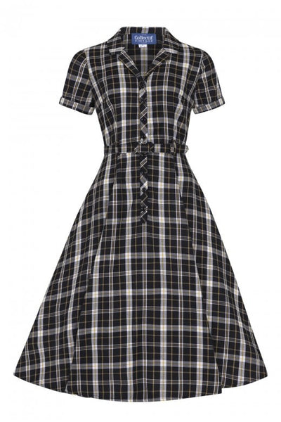 Collectif-Caterina-geek-check-swing-dress-NZ