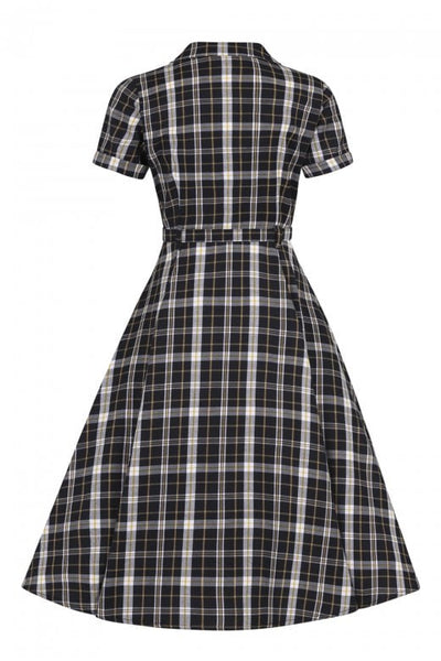 Collectif-caterina-geek-check-swing-dress-back