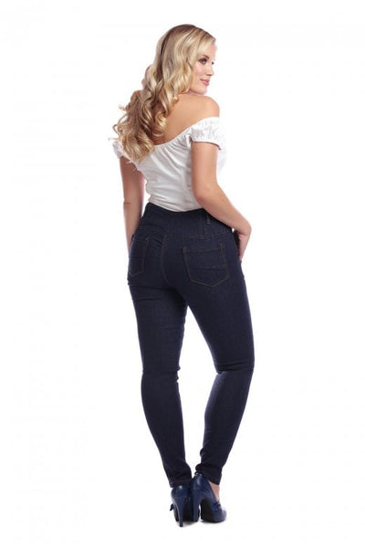 Navy Rebel Kate stretch denim jeans