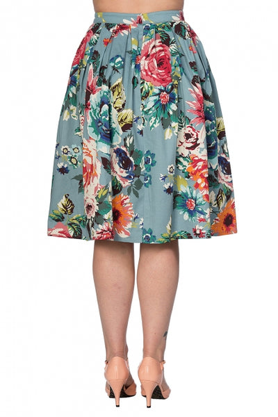 Banned-Apparel-floral-flare-skirt-back