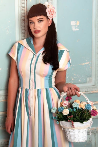 Collectif-vintage-judy-teacup-stripe-swing-dress-nz