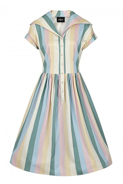 Collectif-vintage-judy-teacup-stripe-swing-dress-front