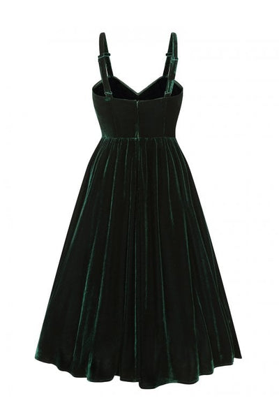 Collectif-green-velvet-pacy-dress-back