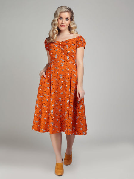 orange-hoot-hoot-owl-dolores-dress-modeled