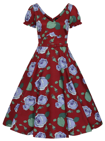 Collectif-Leilani-large-bloom-swing-dress-front