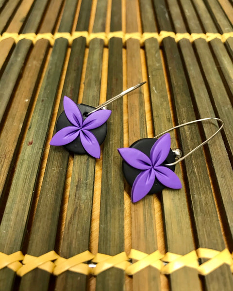 Purple Tipani earrings