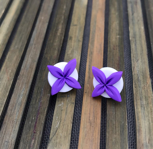 Purple-white-aolele-tipani-studs