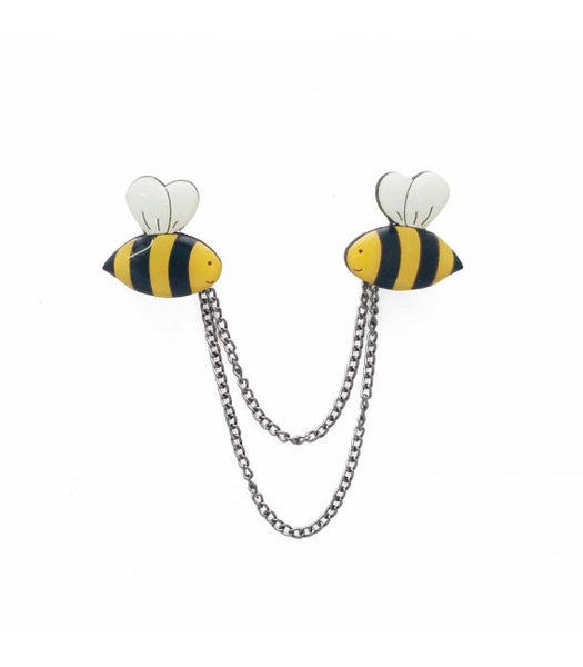 Bee cardigan clips collar clips