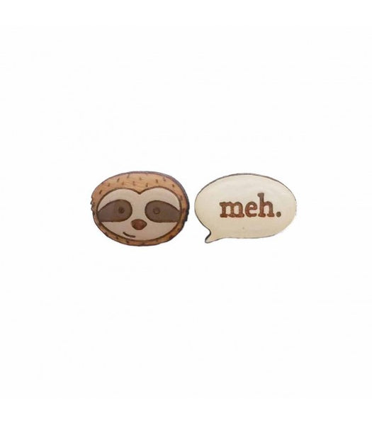 sloth meh earrings Bok Bok B'Gerk