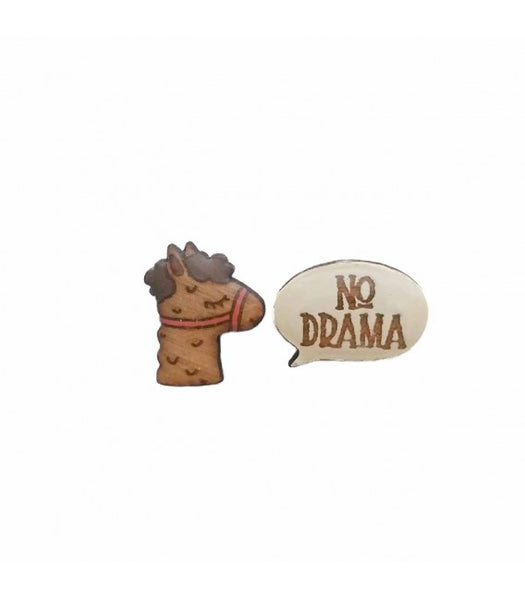 No drama llama earrings