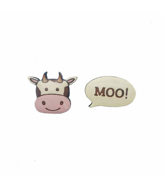 cow goes moo earrings
