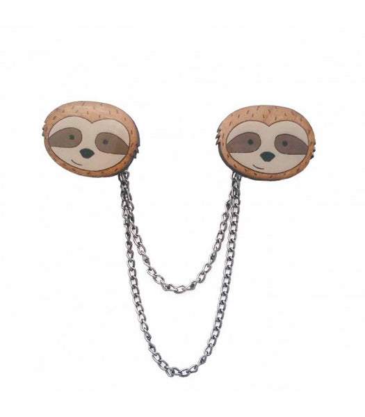 Sloth cardigan clips collar clips NZ
