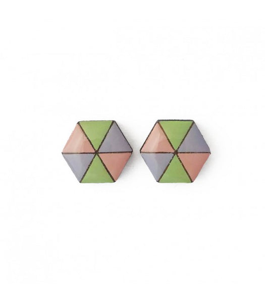 hexagon earrings Bok Bok B'Gerk