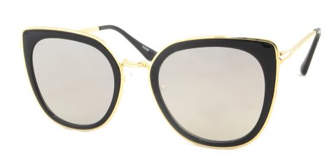 Betty black and gold large cat eye sunglasses