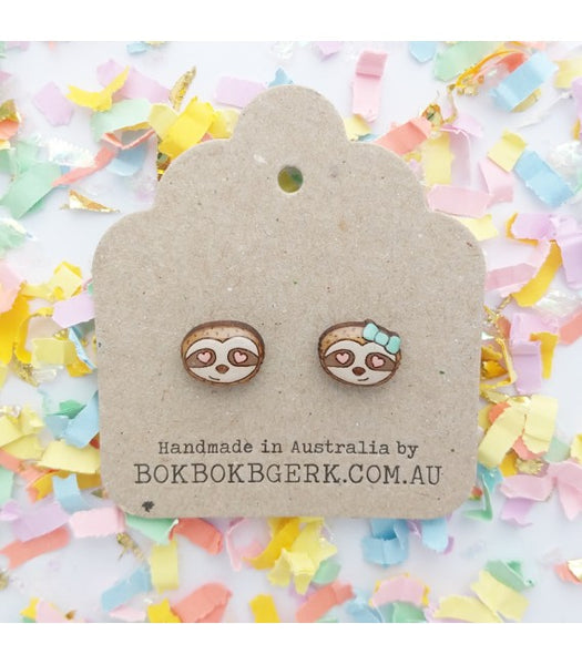 Loved up sloth earrings