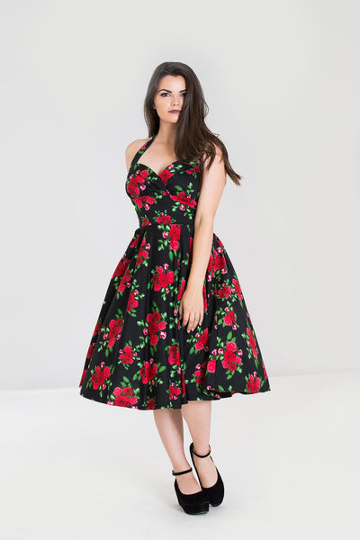 Cannes 50s dress in black & red