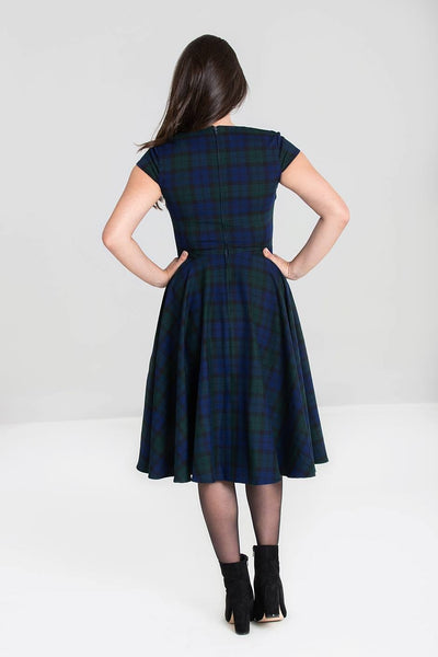 dublin-tartan-hell-bunny-dress-back