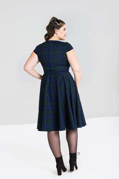 plus-size-dublin-tartan-hell-bunny-dress-back