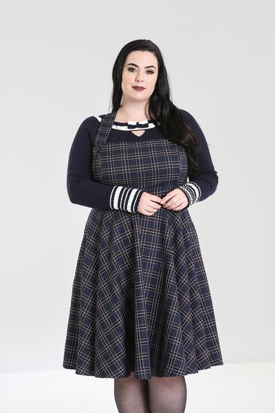 Plus-size-hell-bunny-tartan-navy-peebles-pinafore-nz