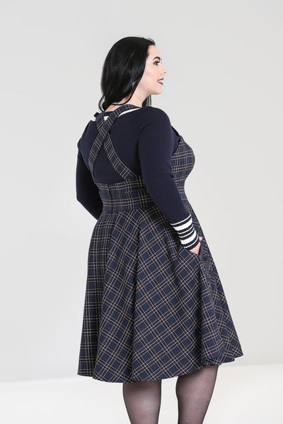 Plus-size-hell-bunny-tartan-navy-peebles-pinafore-back