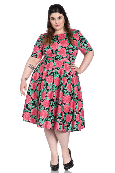 plus size Hell Bunny Darcy 50s dress NZ