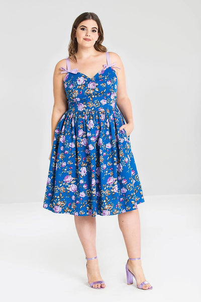 Hell Bunny plus size Violetta dress modeled