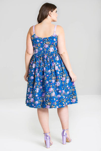 Hell Bunny plus size Violetta dress modeled back