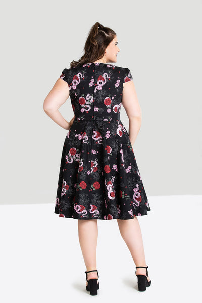 Python Rose 50s dress