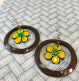 Samoan coconut floral earrings