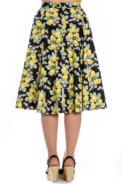 Leandra lemon skirt