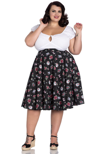 Hell Bunny Stevie skirt plus size modeled