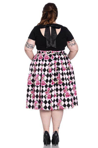 Hell Bunny plus size Harlequin back