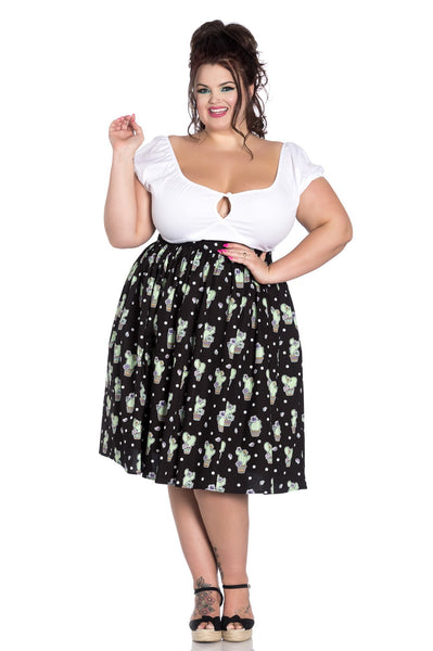 plus size hell bunny cactus skirt