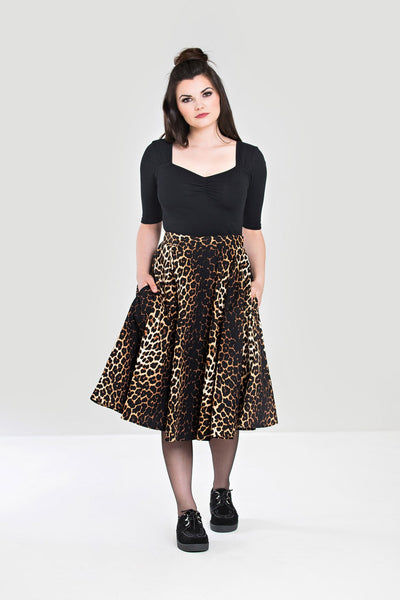 Hell Bunny Panthera circle skirt NZ