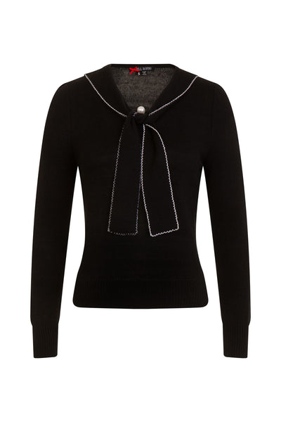 Hell Bunny black Connie jumper front