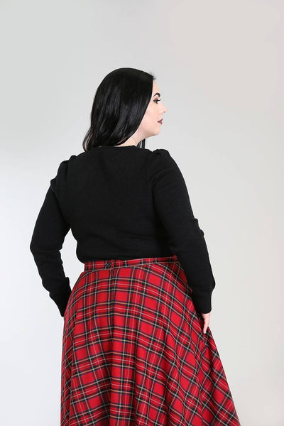 Hell Bunny Plus size black Connie jumper back