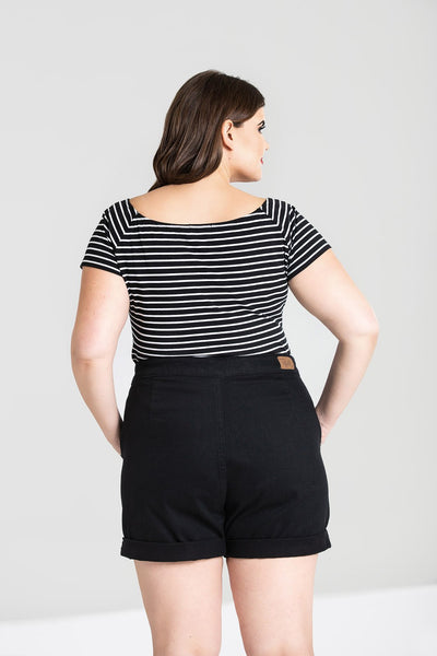 Hell Bunny plus size Verity top back modeled