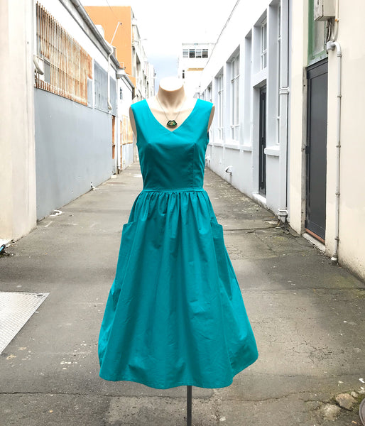 Teal Charlie dress