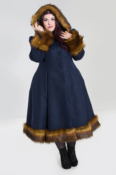 Hell Bunny Isadora Robin coat plus size nz