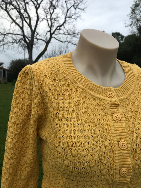Honey pointelle cardigan
