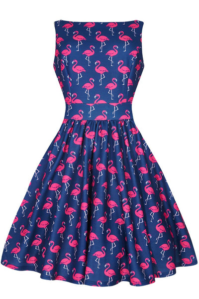 flamingo tea dress two lippy ladies