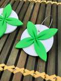 Lime-white-tipani-statement-earrings