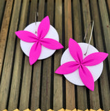 Pink-white-statement-tipani-earrings