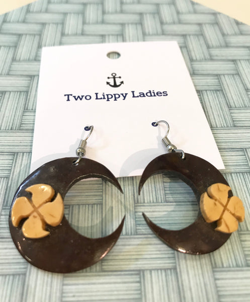 Samoan coconut earrings Two Lippy Ladies